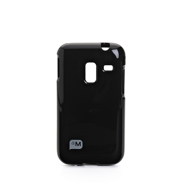 JELLY CASE BLACK GALAXY ACE PLUS