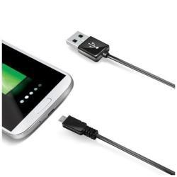 USB DATA CABLE MICROUSB BLACK 2MT