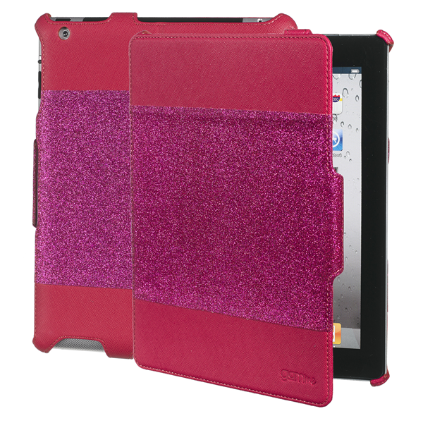 BOOK GLITTER FUCSIA IPAD2