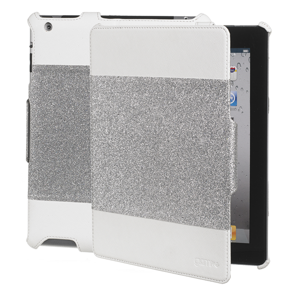 BOOK GLITTER WHITE IPAD2