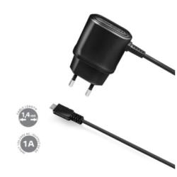TRAVEL CHARGER 1A MICROUSB BLACK