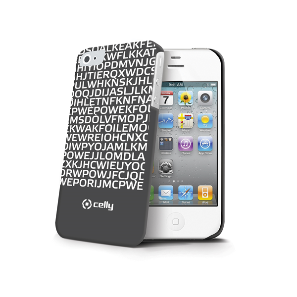 COVER MESSAGE BLACK IPHONE 4S/4