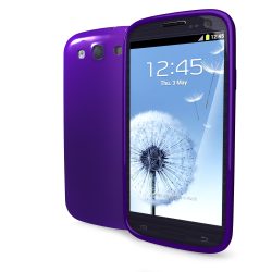 TPU COVER GALAXY SIII VIOLET