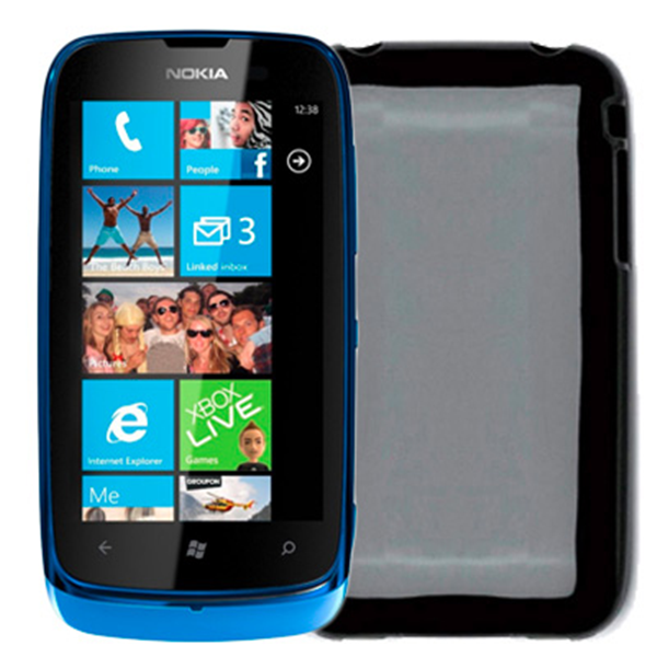 TPU COVER LUMIA 610 BLACK