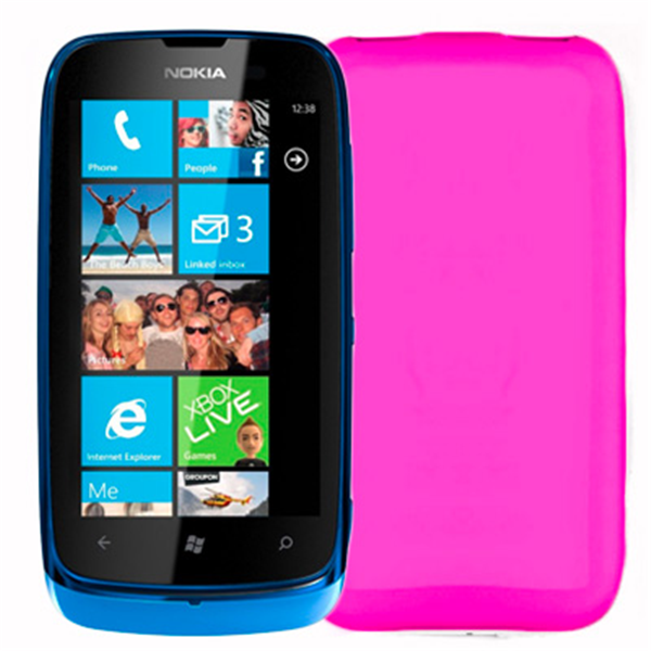 TPU COVER LUMIA 610 FUCSIA