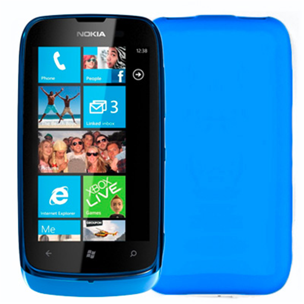 TPU COVER LUMIA 610 LIGHT BLUE