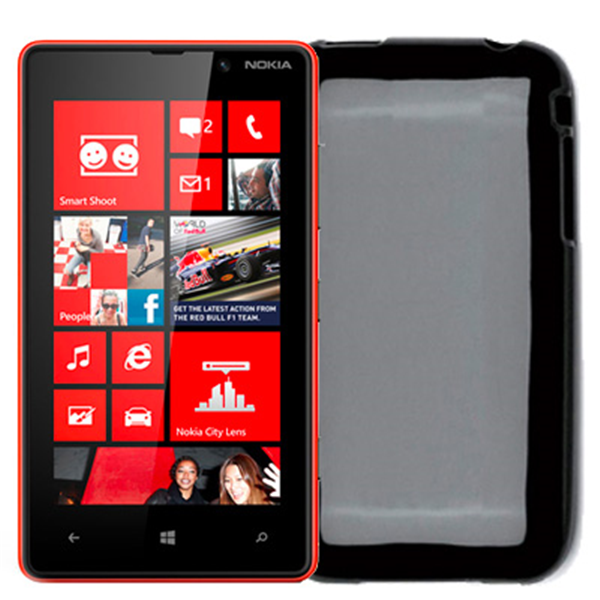 TPU COVER LUMIA 820 BLACK