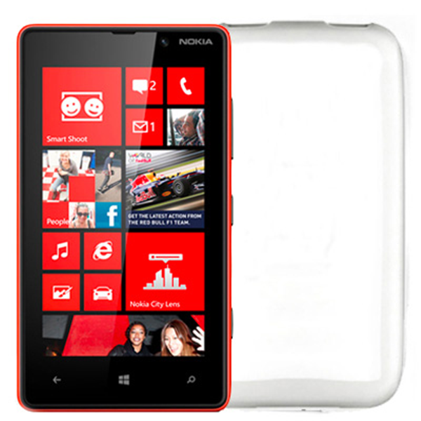 TPU COVER LUMIA 820 WHITE