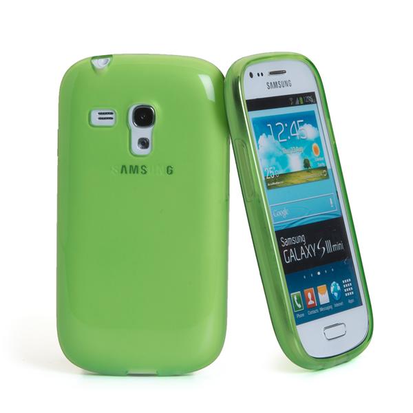 TPU COVER GALAXY S3 MINI GREEN