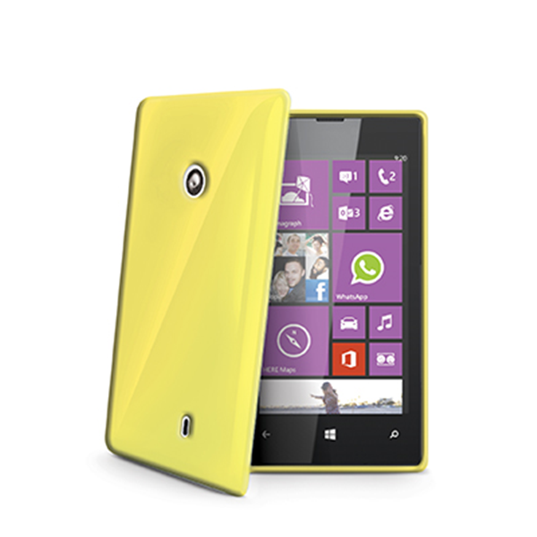 TPU COVER LUMIA 520 YELLOW