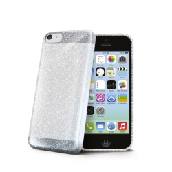 GLITTER TPU COVER GREY IPHONE 5C