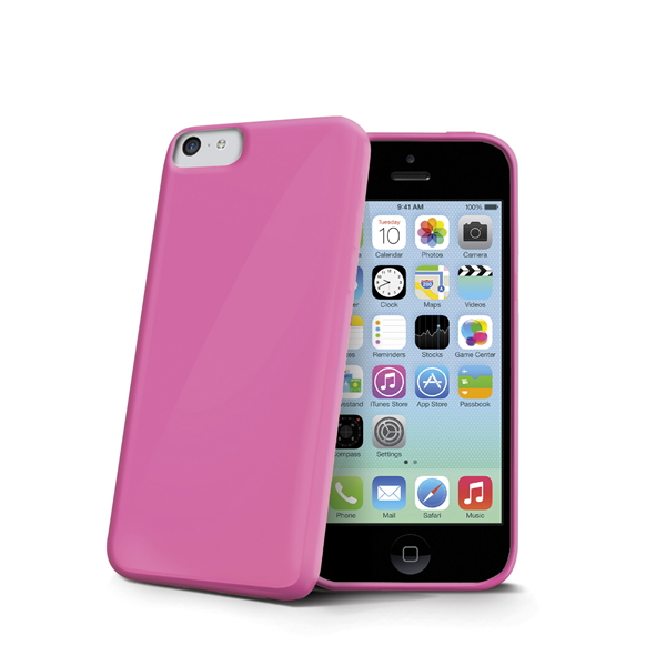 TPU COVER IPHONE 5C PINK