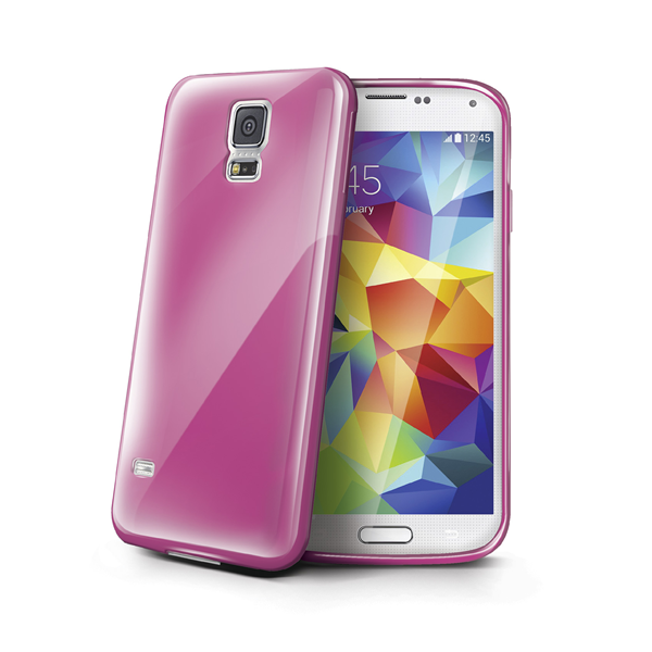TPU COVER GALAXY S5 PINK