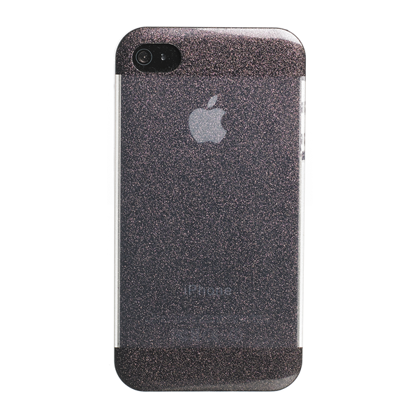COVER GLITTER BLACK IPHONE 4S/4