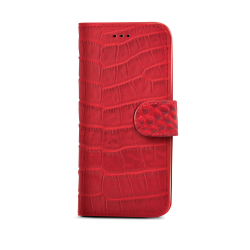 RED CROCODILE WALLY FOR IPHONE 6