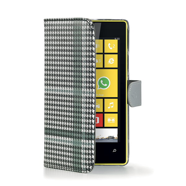 PIED DE POULE WALLY BLACK LUMIA 520
