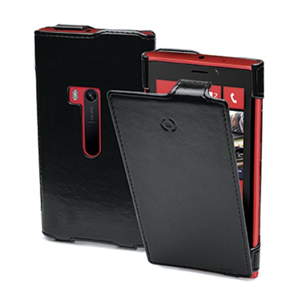 VERTICAL LEATHER CASE LUMIA 920 BK