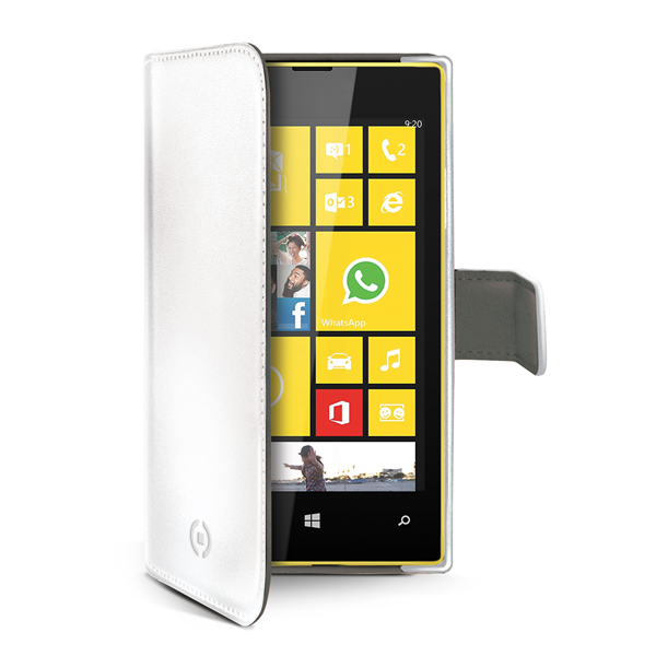 WHITE PU WALLET CASE LUMIA 530