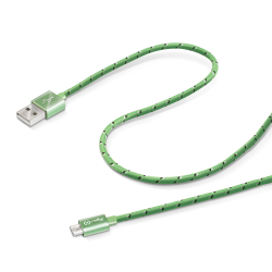 USB CABLE MICRO TEXTILE GN