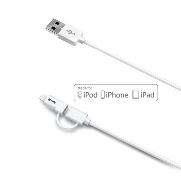 USB CABLE MICRO LIGHTNING ADAPTER