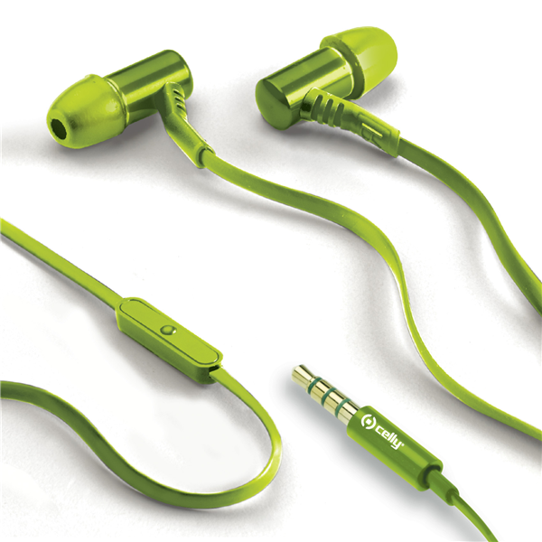 STEREO EARPHONES 3.5MM LIME
