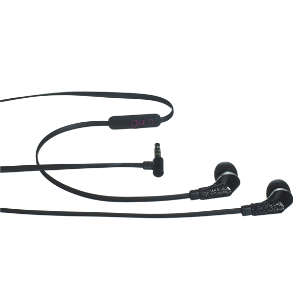 GLAMME FLAT BEAT BK EARPHONES 3.5MM