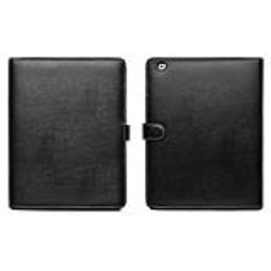 LEATHER BLACK CASE FOR IPAD 2