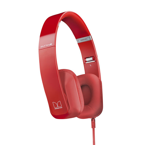 NK CUFFIE STEREO FILO MONSTER RED