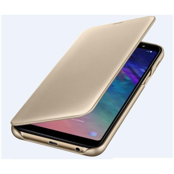 WALLET COVER GALAXY A6+ GOLD