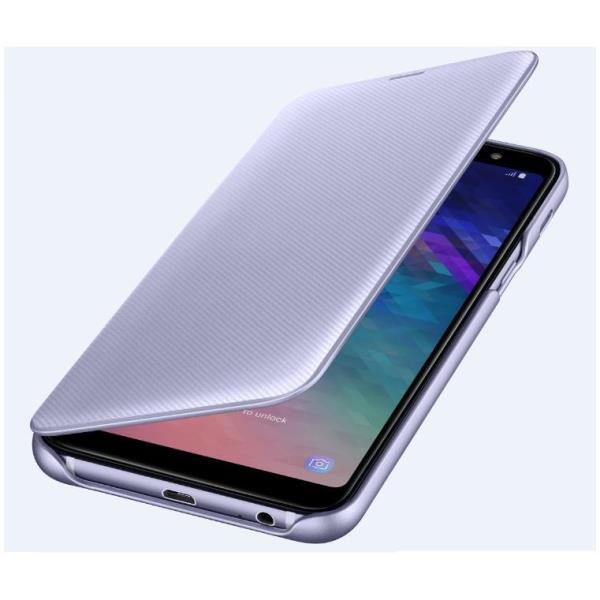 WALLET COVER GALAXY A6+ VIOLET