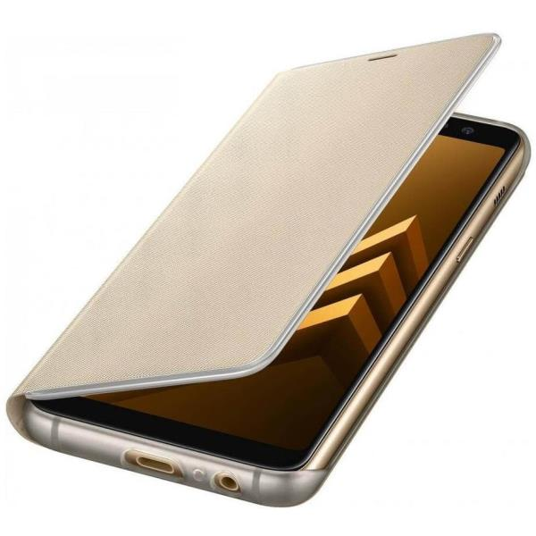 NEON FLIP COVER GOLD GALAXY A8