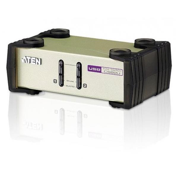 KVM PS/2-USB VGA 2-porte