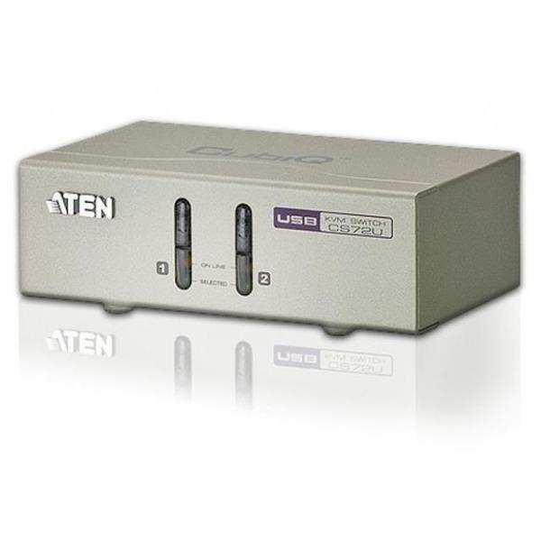 KVM 2-Port USB VGA con Audio